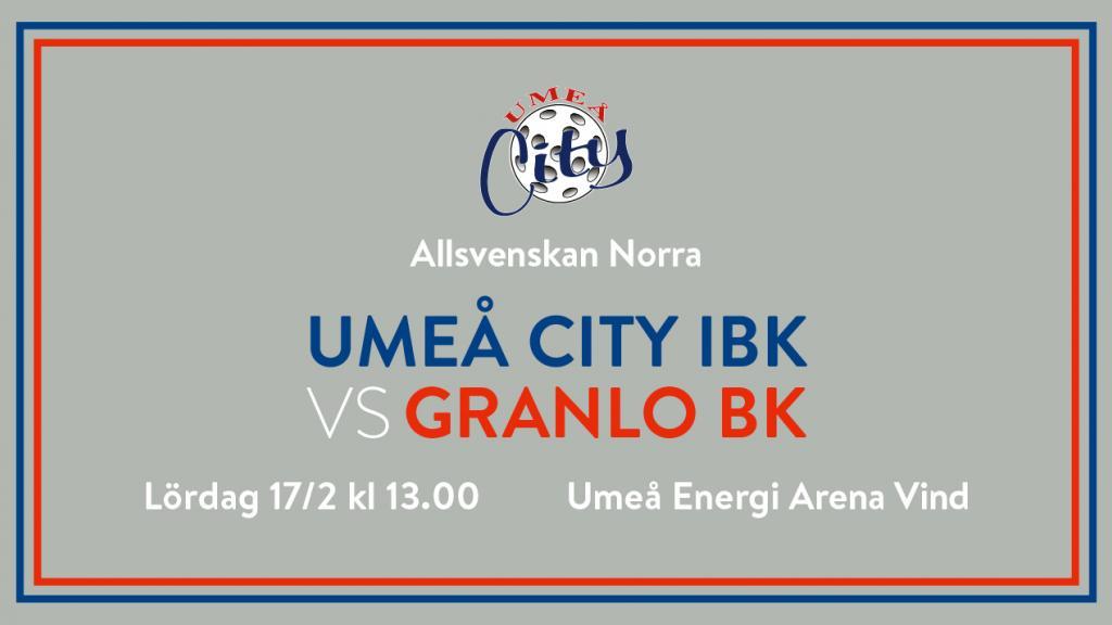 Umeå City IBK vs Granlo BK