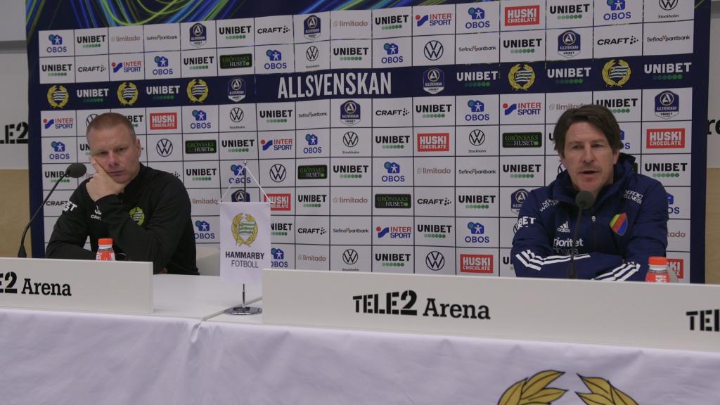 Presskonferensen efter Hammarby-Djurgården