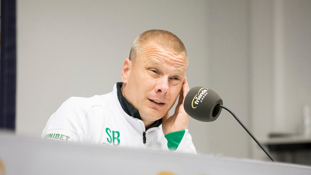 Se presskonferensen efterderbyförlusten i Solna