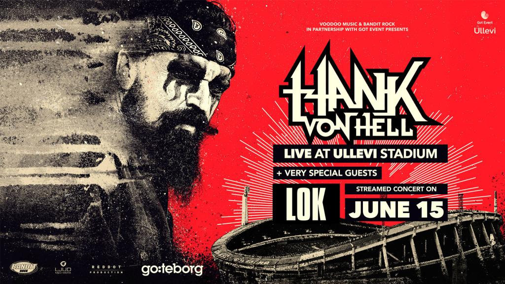 HANK VON HELL – LIVE FROM ULLEVI STADIUM – One of the biggest Live Streams to date