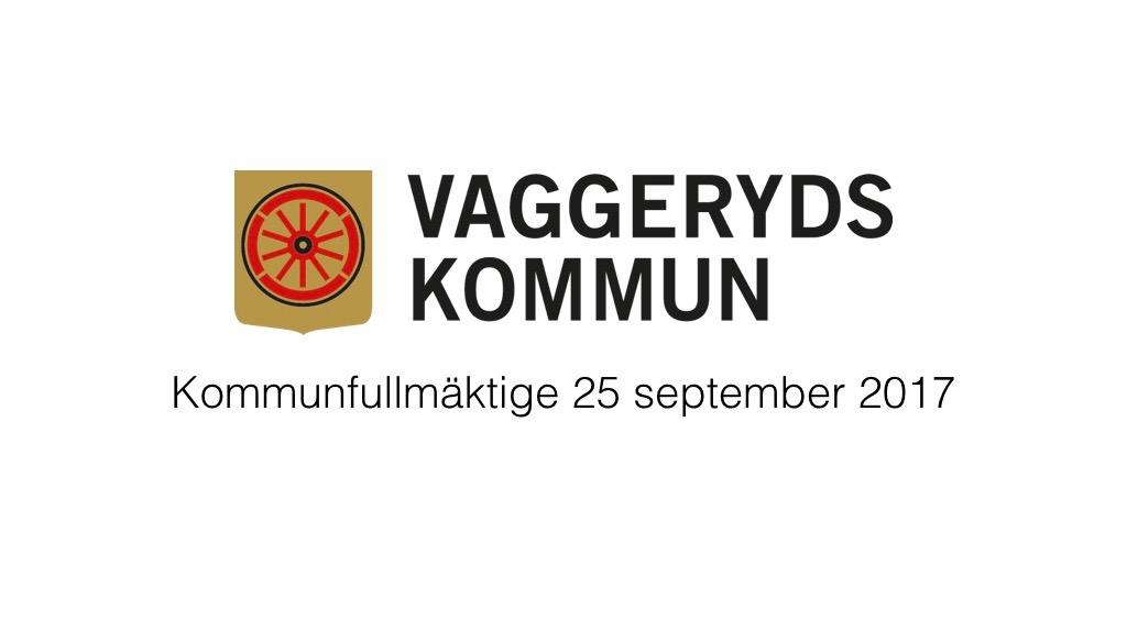 25 september 2017 - Kommunfullmäktige