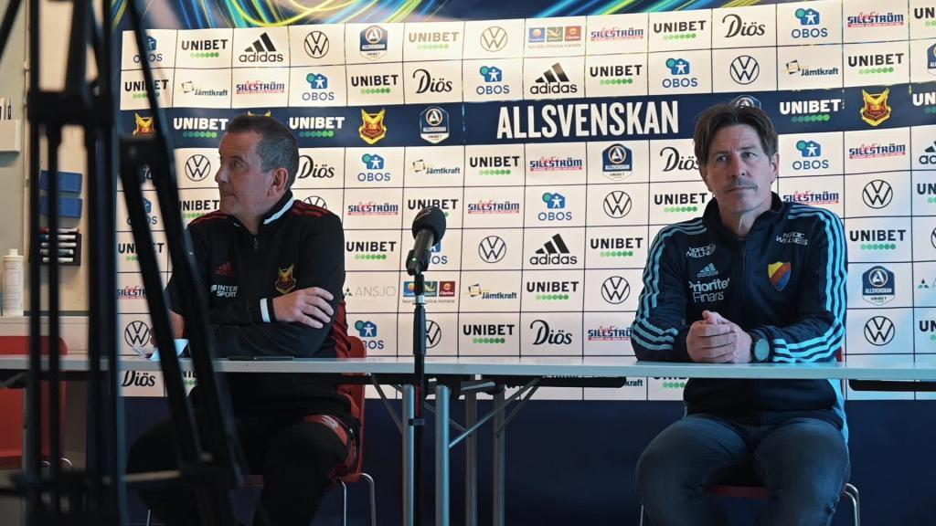 Presskonferensen efter Östersund - Djurgården