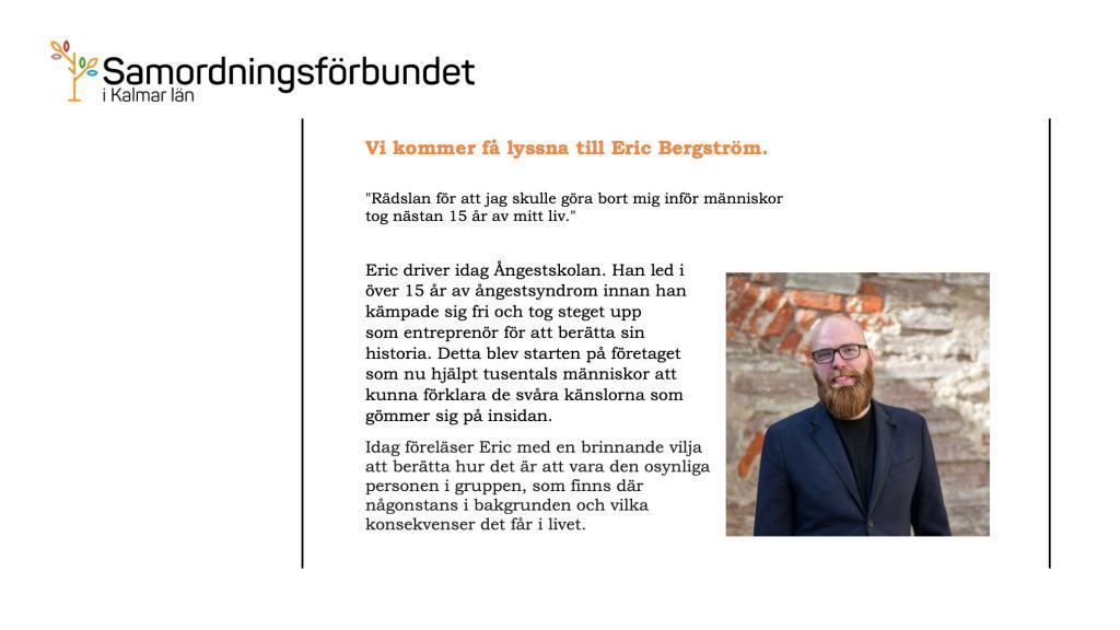 Samordningsförbundet - Erik Bergström
