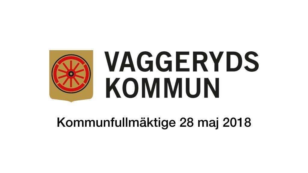 28 maj 2018 - Kommunfullmäktige