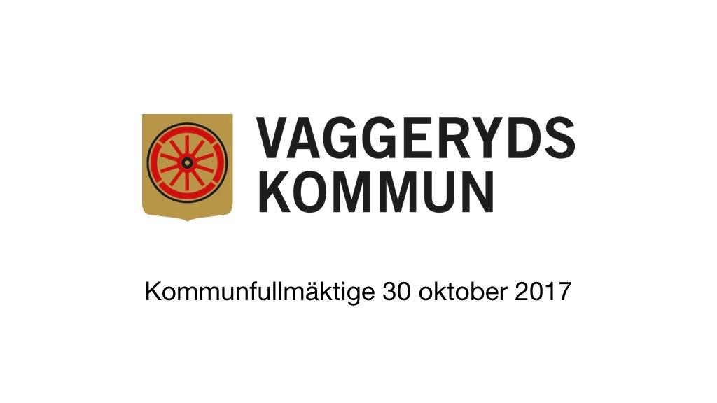 30 oktober 2017 - Kommunfullmäktige