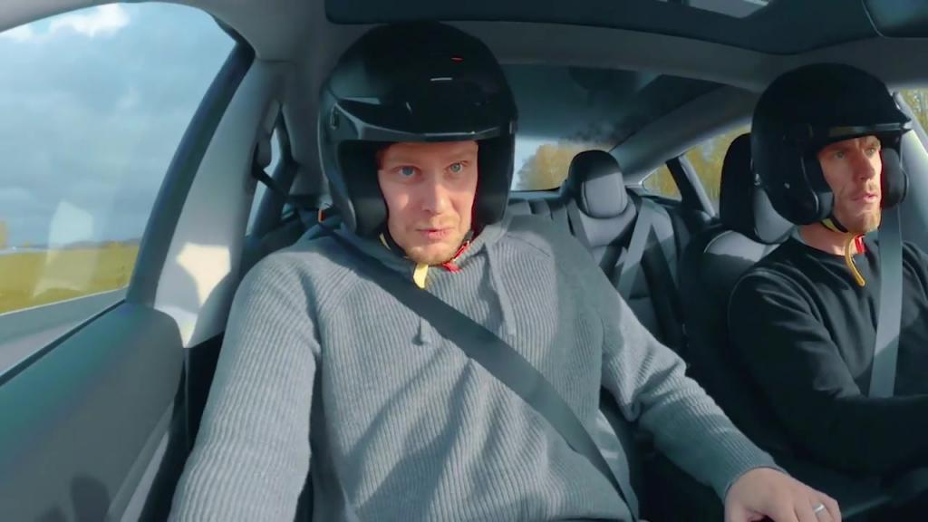 Omtumlande provtur för Tesla-vinnaren Tim