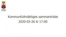 Kommunfullmäktiges sammanträde 2020-03-26