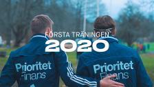 Första träningen 2020
