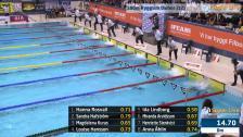 29 100m Ryggsim Damer A-Final SM/JSM 25m 2015