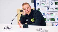 Presskonferensen efter 1-1 mot Häcken