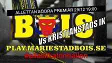 Mariestad BoIS - Kristianstads IK / Torsdag 29/12 19:00
