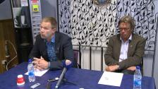 Presskonferensen efter Gefle-DIF 2012