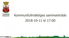 Kommunfullmäktiges sammanträde 2018-10-11