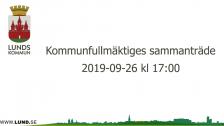 Kommunfullmäktiges sammanträde 2019-09-26