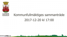 Kommunfullmäktiges sammanträde 2017-12-20
