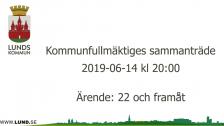 Kommunfullmäktiges sammanträde 2019-06-14