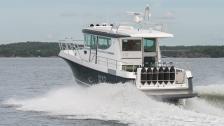 Nord Star 32 Patrol – hyttbåt med invändig styrka