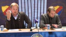 Presskonferensen efter DIF-AIK 2012