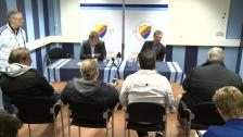 Presskonferensen efter DIF-BK Häcken 2012