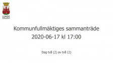 Kommunfullmäktiges sammanträde 2020-06-17