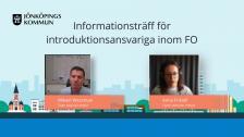 Informationsträff för introduktionsombud 2021