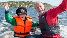 Och vinnaren av en egen båt är… Fabian!