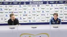 Presskonferensen efter AIK - DIF