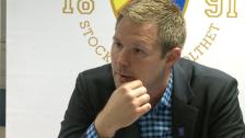 Presskonferensen efter DIF-Mjällby 2012