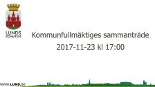 Kommunfullmäktiges sammanträde 2017-11-23