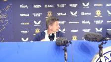 Presskonferens efter avancemanget mot Rangers