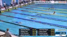 18 100m Bröstsim Herrar A-Final SM/JSM 25m 2015