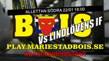Mariestad BoIS - Lindlövens IF / Söndag 22/01 16:00