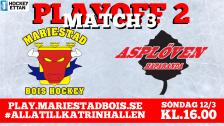 Mariestad BoIS - Asplöven HC / Söndag 12/3 16:00
