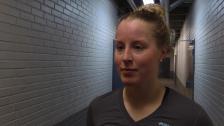 Olivia Carlsson efter straffsegern mot Linköping