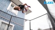 Francis Portin hoppar studsmatta