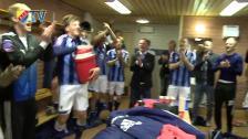 Segerglädje efter avancemanget till final i Svenska Cupen