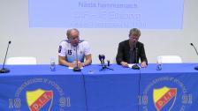 Presskonferensen efter Djurgården - Häcken
