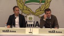 Se presskonferensen efter förlusten hemma mot Norrköping