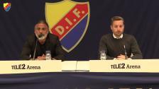 Presskonferensen efter DIF-Örebro