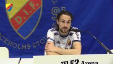 Presskonferens och intervjuer efter Djurgården J-Södra