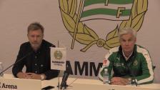 Presskonferens efter 2-3 mot Häcken