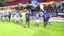 Firande efter segern mot Kalmar