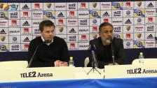 Presskonferensen efter DIF-IFK Norrköping