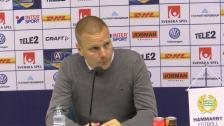Presskonferensen efter segern mot Örebro