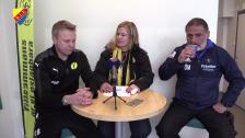 Presskonferensen efter IK Frej och Djurgården