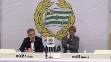 Presskonferensen efter 2-2 mot Östersund