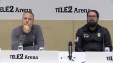 Presskonferensen efter segern över Varbergs BoIS