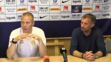 Se presskonferensen efter 6-1-segern mot AFC