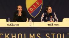 Presskonferensen efter cupsemifinalen mot Häcken