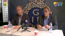 Presskonferensen efter Gefle-Djurgården